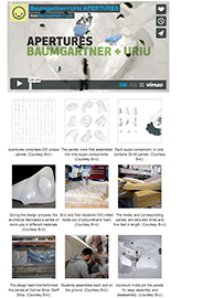 Architect's Newspaper: Interactive Thermoplastic Pavillion