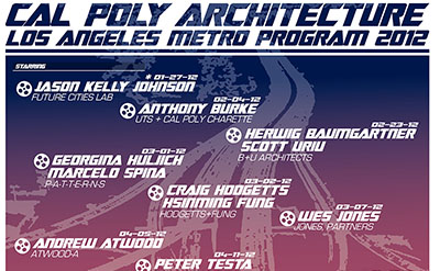 Lecture at the CalPoly Los Angeles Program in Architecture